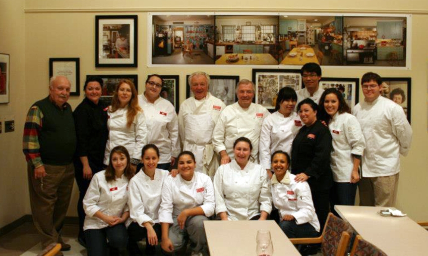 "Fall 2012 class with Chef Jacques Pepin"" (Photo courtesy of Audrey Reid)"
