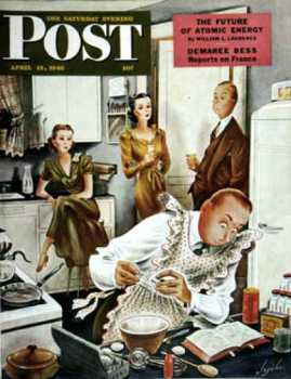 Saturday Evening Post - Gourmet Cook (1946-04-13)