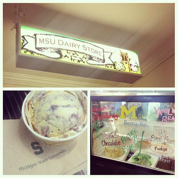 MSU Dairy and ice cream offerings/image via KC Hysmith