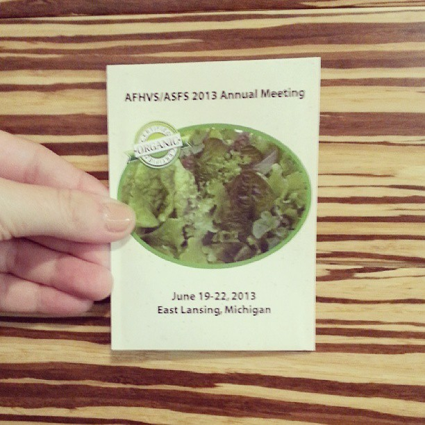 Lettuce Seeds from the Conference Program/image via KC Hysmith