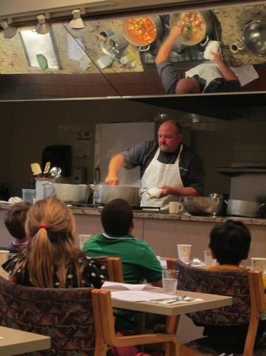 Chef Dwayne making nopalitos and chicken stew.