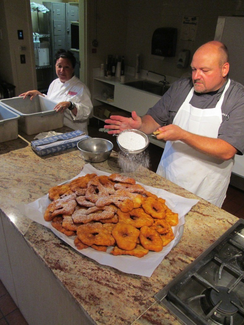Lisa Falso, Chef Dwayne and the fry-cakes.