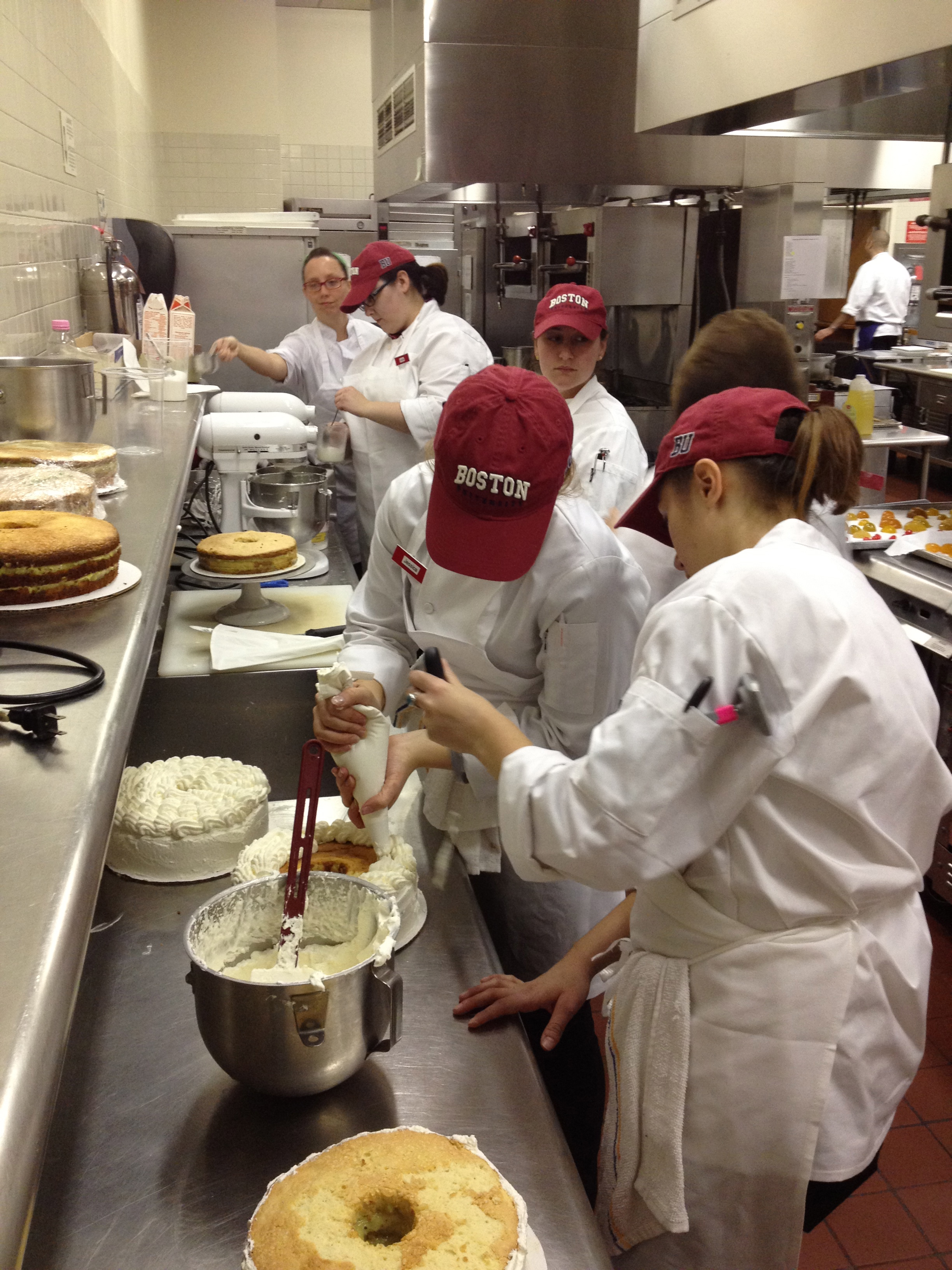 Culinary arts certificate culinary students preparing birthday cakes for julia childs 100th birthday celebration 1betcityfo Images
