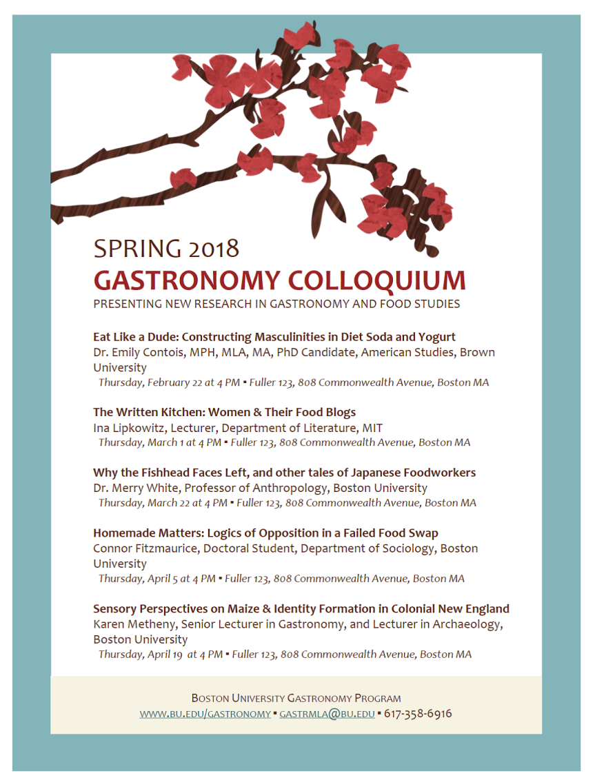 Uncategorized spring 2018 colloquium spring 2018 gastronomy colloquium 1betcityfo Image collections