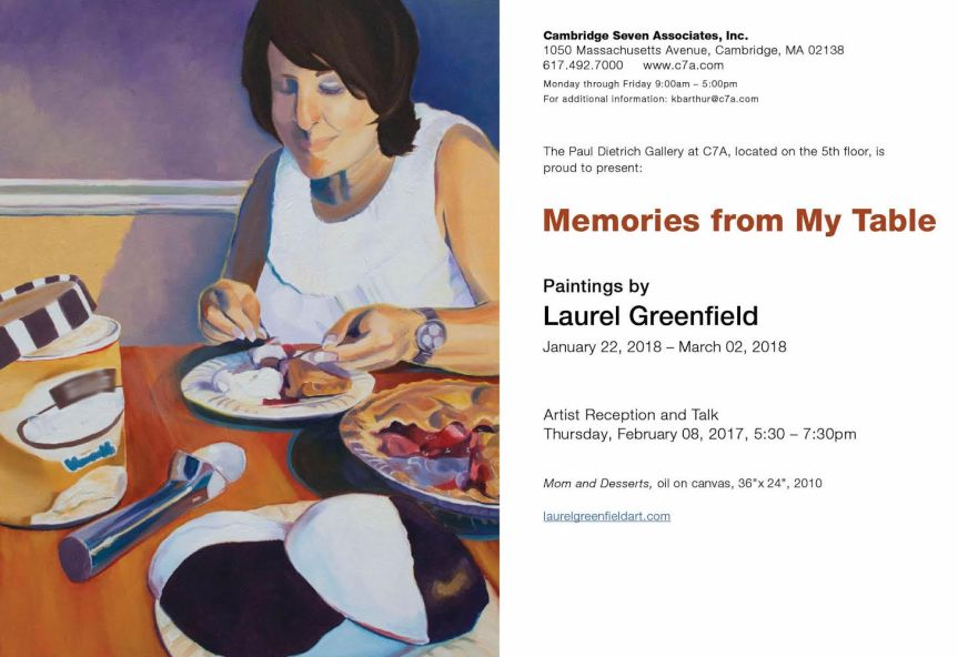 Memories From My Table – Paintings by Laurel Greenfield